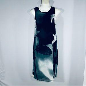 Large abstract print sheath dress